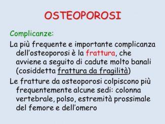 le complicanze dellosteoporosi